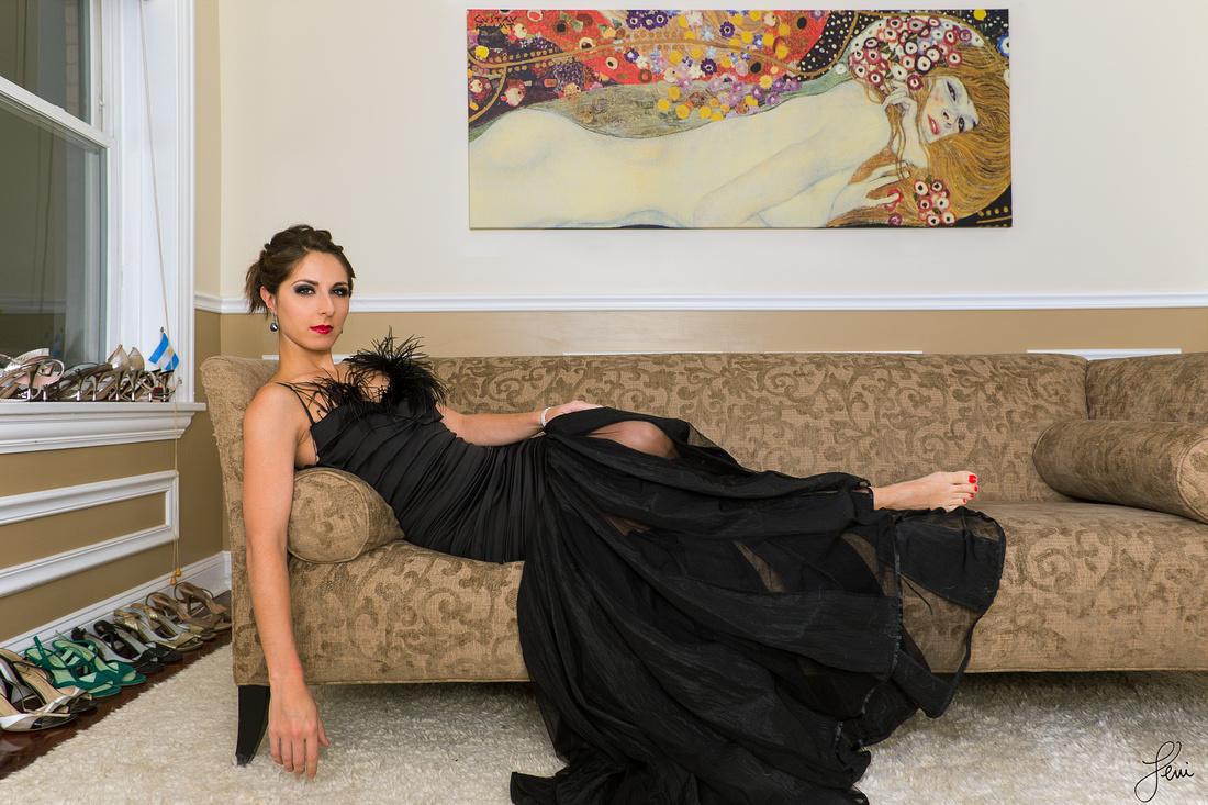 Daniela Roig wears Elda de la Rosa Couture