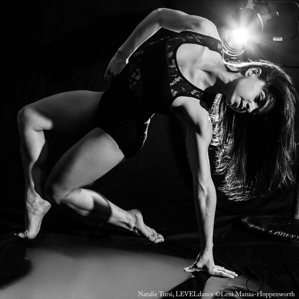 Natalie Tursi, LEVELdance Chicago in black and white