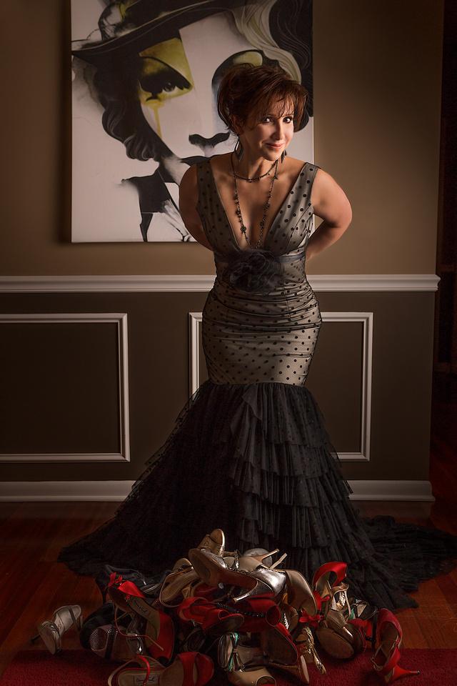 Lee Litas wears Elda de la Rosa Couture Designs