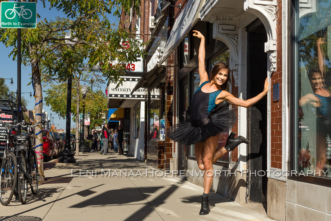 Hannah Duncan, Elements Contemporary Ballet at Chicago Dance Supply in Andersonville