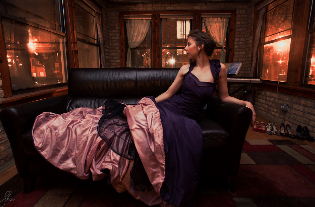 Krista Marie Messam wears Elda de la Rosa Couture